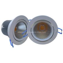 Teto ajustável Dimmable COB LED Downlight 15W CE SAA