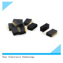 Фабрики Китая 2-Контактный 3,5 мм кабель 10pin двойной ряд Женский погружения прямой штыревой Разъем