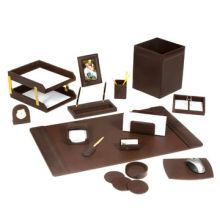 Leather Desk Set, Made of Leather