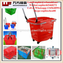China Taizhou OEM Commodity Plastic Injection supermarket Basket Mold/Cargo Basket Mould With Handle