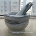 Granit Stein Mörser und Pestles Hersteller aus China Größe 13X9cm