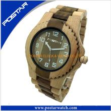 2016 mais novo design moda madeira relógio logotipo personalizado relógio de pulso