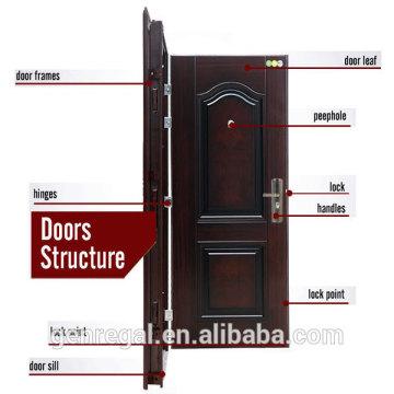 Anti-theft latest design cheap prehung steel door