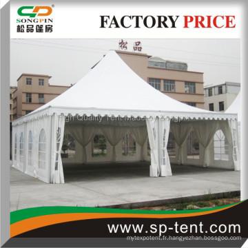 Tente d'exposition en aluminium 10mx10m avec tissu ignifuge