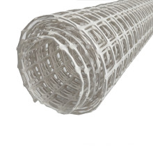 White color 25kN/m high strength coal mining supporting/protecting plastic mesh biaxial geogrid