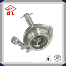 Stainless Steel Hygienic Spring Non-Return Pressure Threaded Check Valve with Drain