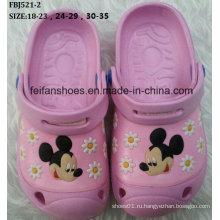 Высокое качество прекрасный мультфильм EVA сад обувь для детей (FBJ521-2)