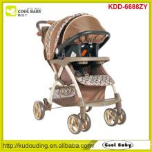 Hersteller neuer moderner Kinderwagen 2 bis 1 verstellbarer Griffhöhe Kinderwagen mit Autositz