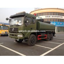 Camión de petrolero militar de 6x6 dongfeng / camión de reaprovisionamiento del combustible campo a través de la refinería