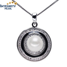 Cheap and Simple Design Pearl Pendant 9-10mm AAA Freshwater Pearl Pendants Wholesale