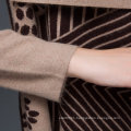 Women Luxury Mink Cashmere Winter Cardigan Sweater (YKY2053)