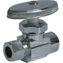 Sweat Inlet Brass Chromed Straight Stop Valve Complies with NSF-61 and Cupc (K02)