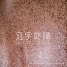 Zusammengesetzte Leder Sofa Stoff mit gebürstetem Rücken für Zuhause