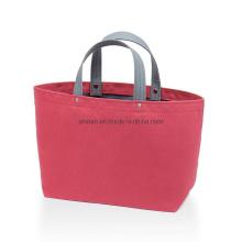 Bag Women Blue OEM Customized Designer Handbag Tote Logo Color Material Shopping Bags with Zipper Logos