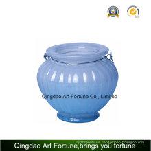 Tarro de cristal para la decoración de la vela y del hogar