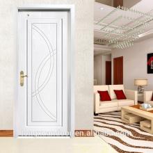 Puerta de madera sólida de la pintura blanca, puerta de madera de lujo del estilo de Europa, puerta de madera de Fashional para la habitación del hotel