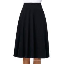 Kate Kasin Occident Women's High Stretchy Cotton High Waist A-line Flared Skirt KK000279-1