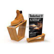 Counter Top Plywood Portable Shoes Rack Calçado Loja de varejo Custom Acrílico Shoe Display Stand