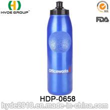 Bouteilles d'eau de sport en plastique sans BPA 2017 de voyage, bouteilles d'eau courantes en plastique de PE (HDP-0658)