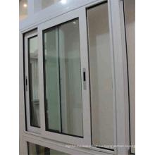 Горячий продавец Двойное закаленное стекло Алюминиевое раздвижное окно