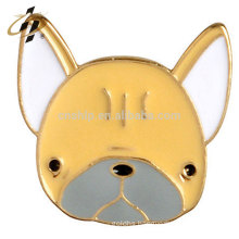 Soft enamel zinc alloy wholesale metal doggie button pins with black nickle