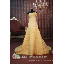 EN STOCK Off-El-Hombro Flor vestido de fiesta de las mujeres de piso-longitud vestido de baile SE89