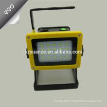 Lampe torche portative à LED portable lumière légère rechargeable