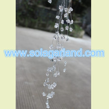 Acrylic Irregularity Crystal Stone Beaded Wire Garland
