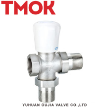 brass nickle plating thermostatic radiator valve