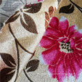 Flower Printed Polyester Velvet African Sofa Cover Fabric