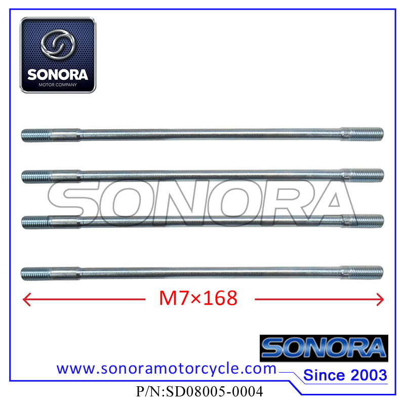 SD08005-0004 139QMA GY6-50 Cylinder Head Long Studs (M7×168)