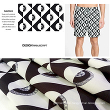 Abstract Digital Printed Beach Shorts/ Casual Garment Fabric