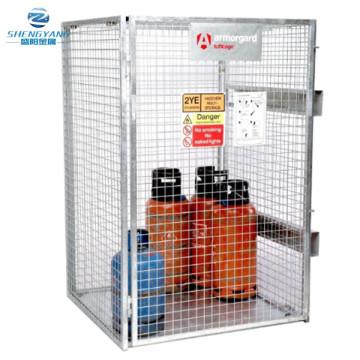 tuffcage botella de gas galvanizada plegable cilindro caja de almacenamiento de mercancías segura