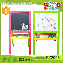 Hot Sale Preschool Educational Learning Drawing Board Wooden Artist Easel For Kids