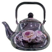 Enamel Kettle, Enamel Teapot, Enamelware, Enamel Iron Cast Teapot