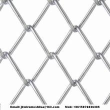 Valla de enlace de cadena revestida y galvanizada de PVC
