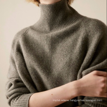 P18B07TR 100% cashmere knitted lady sweater