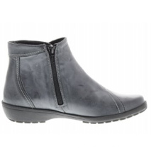 Casual Blue-Grey Leather Ankle Boots Fall/Winter 2015