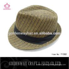 Chapéus baratos do Fedora da palha do papel dos homens