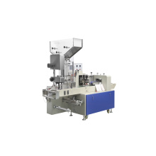 Disposable straw packaging machine