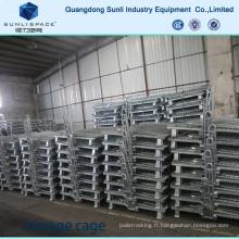 Cage en acier de support de boîte de stockage de grillage