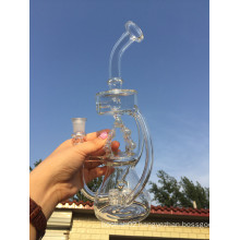 2016 New Arrival Mini Portable Recycler Glass Watr Pipe