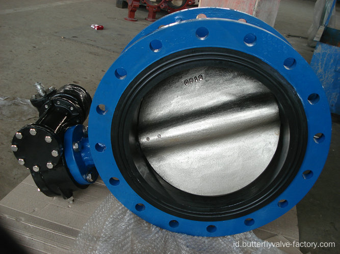 Double konsentris Flanged Butterfly Valve