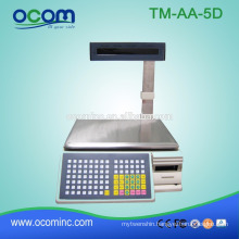 TM-AA-5D OCOM 30kg electronic weighing scale with barcode label printing printer