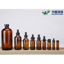 Lab Use 15ml 30ml 60ml 120ml 250ml 500ml Amber Round Boston Glass Bottles