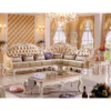 Sofá de cuero de madera para muebles de sala de estar (803A)