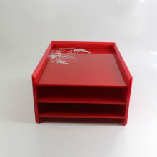 Custom Acrylic Office File Organizer med god kvalitet