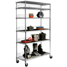 Chrome Metal Display Rack for Commercial Kitchen