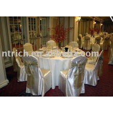 Satin fabric chair cover,hotel chair cover, banquet chair cover,gold satin chair ties