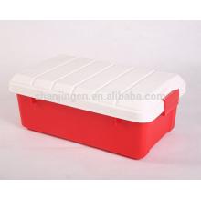 caja de almacenamiento de plástico tipo y caja de herramientas de material pp para el almacenamiento del coche